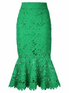 Bambah floral lace patterned fishtail skirt - Green