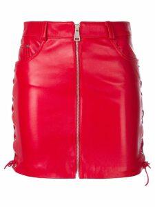 Manokhi short zipped skirt - Red