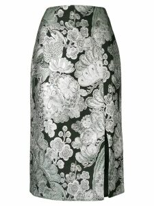 Erdem metallic pattern skirt