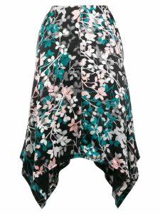 Roberto Cavalli high-low hem skirt - Black