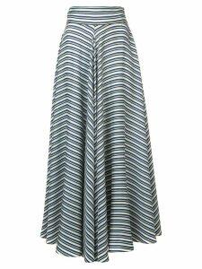 Diane von Furstenberg high waisted striped skirt - Green