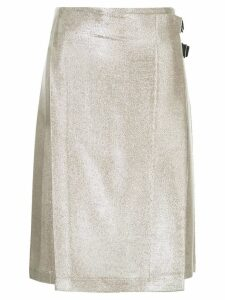 Macgraw Compass wrap skirt - Metallic