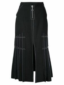Ellery pleated side maxi skirt - Black
