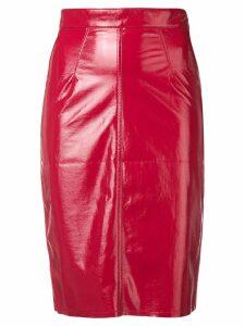 Fiorucci Margot vinyl skirt - Red