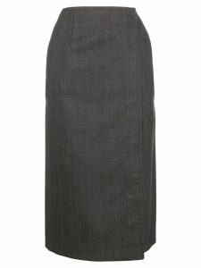Calvin Klein 205W39nyc checked wrap skirt - Grey