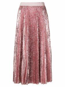 MSGM pleated sequin midi skirt - PINK