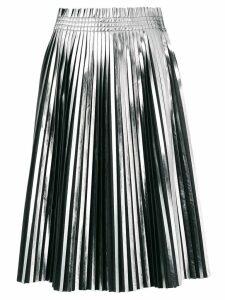 Mm6 Maison Margiela pleated metallic skirt - Black
