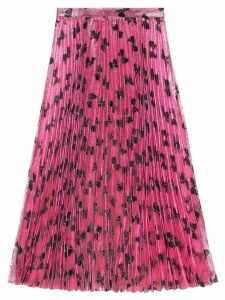 Gucci Iridescent bow lurex pleated skirt - PINK