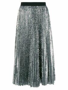 MSGM pleated sequin midi skirt - Metallic