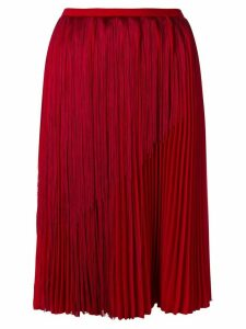 Marco De Vincenzo fringed pleated skirt - Red