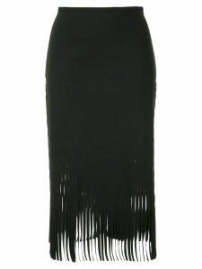 Dion Lee fringed skirt - Black