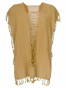 Caravana convertible fringed and distressed top - Yellow