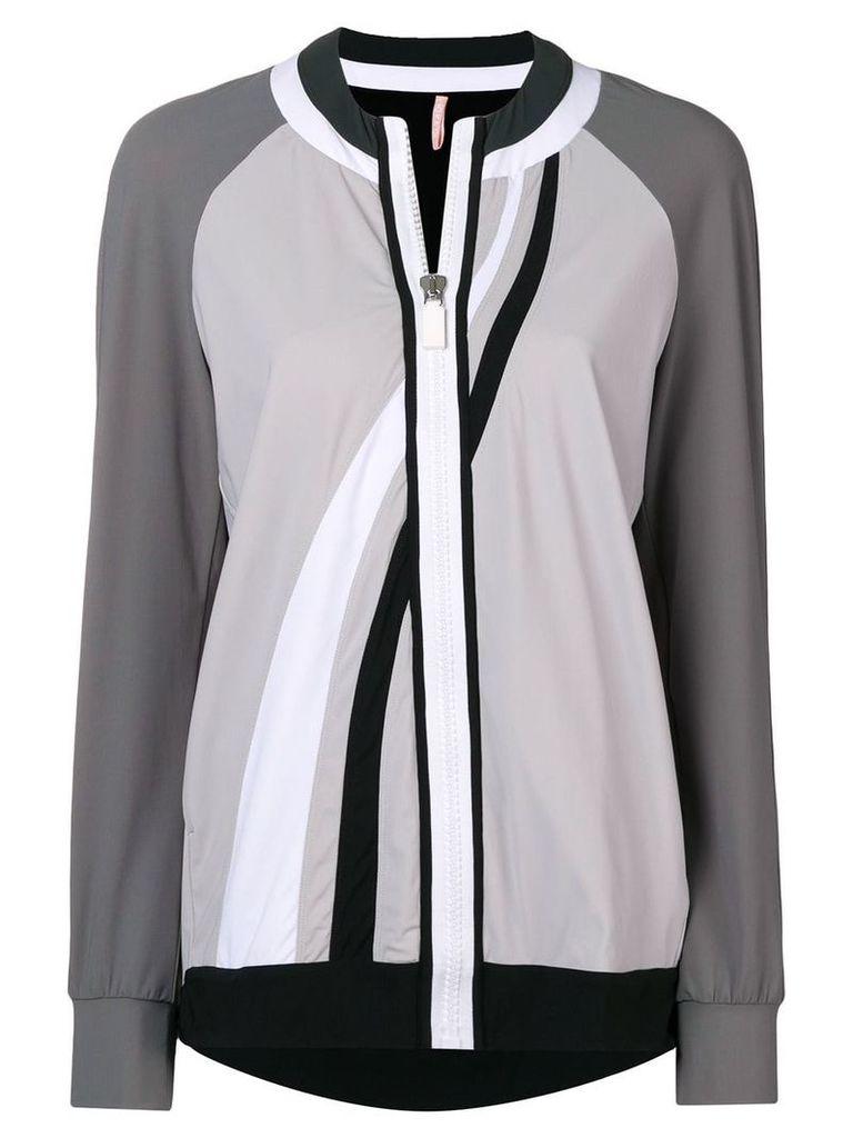 No Ka' Oi colour-block zipped jacket - Grey