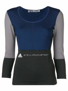 adidas by Stella McCartney long-sleeve fitted T-shirt - Blue