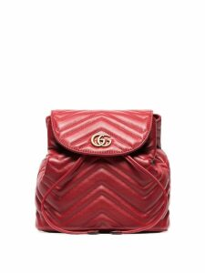 Gucci red Marmont quilted leather backpack