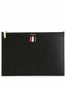 Thom Browne small tablet clutch - Black