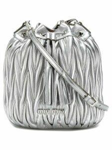 Miu Miu matelassé bucket bag - Metallic