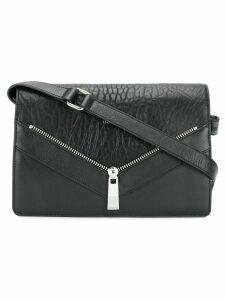 Diesel zip-detail shoulder bag - Black