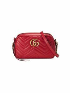 Gucci Marmont small matelassé leather shoulder bag - Red