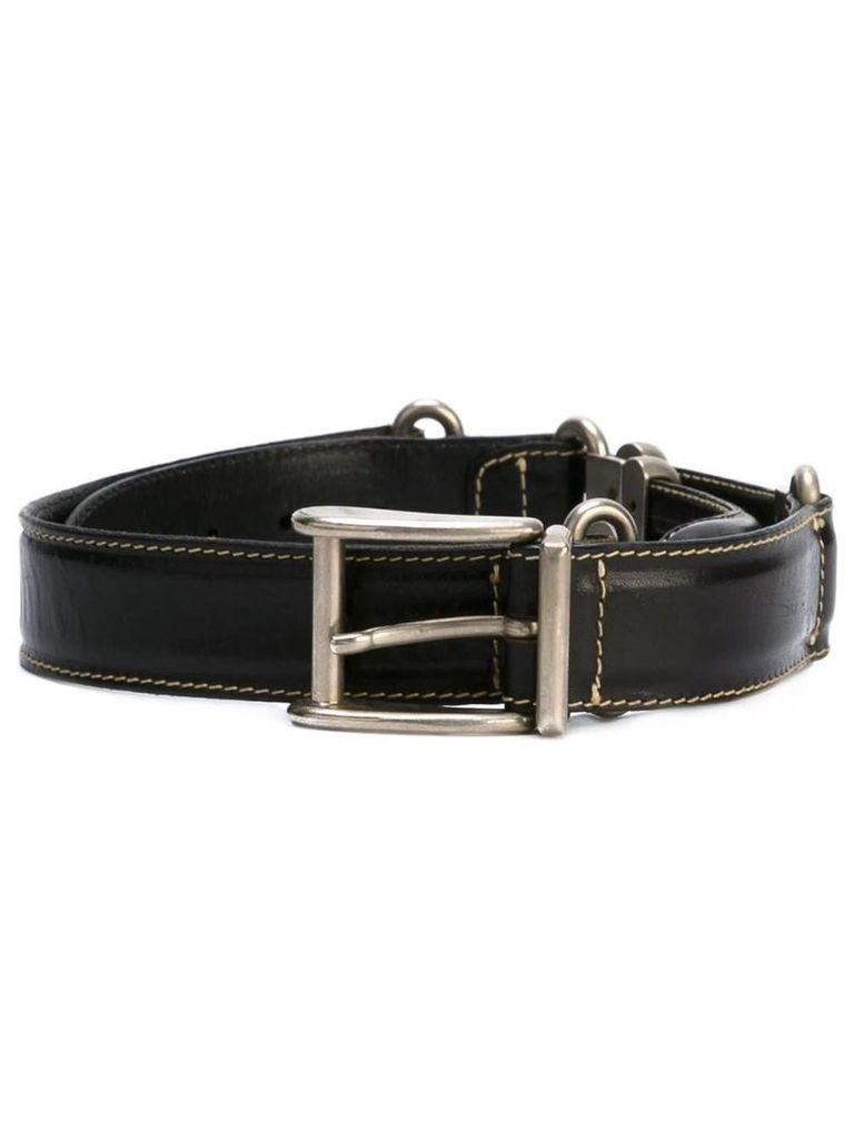 Jean Paul Gaultier Vintage metal rope detail belt - Black