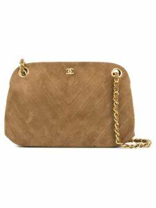 Chanel Pre-Owned V stitch shoulder bag - Brown