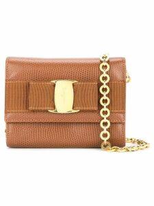 Salvatore Ferragamo Pre-Owned Vara bow 2-way shoulder bag - Brown