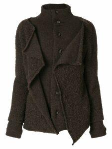 Yohji Yamamoto Pre-Owned buttoned long train coat - Brown
