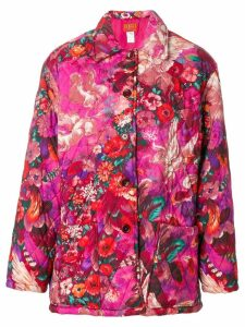 Kenzo Pre-Owned Pegas print quilted coat - Pink