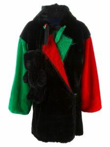 JC de Castelbajac Pre-Owned teddy bear oversized coat - Black