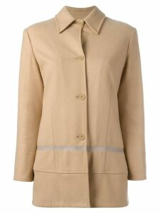 Helmut Lang Pre-Owned single breasted coat - NEUTRALS