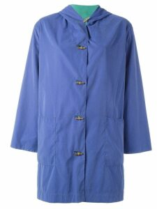 Hermès Pre-Owned hooded coat - Blue