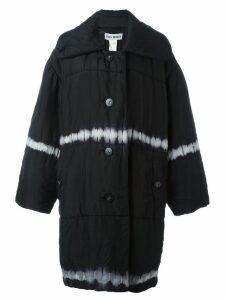 Issey Miyake Pre-Owned tie-dye padded oversized coat - Black