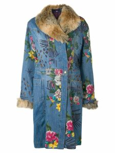 Kenzo Pre-Owned floral denim coat - Blue