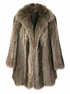 Christian Dior Pre-Owned possum fur coat - Brown