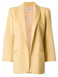 Yves Saint Laurent Pre-Owned open front coat - Yellow
