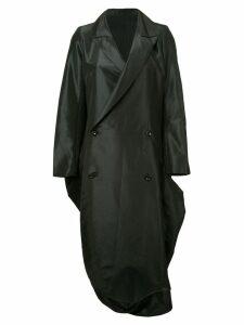 Yohji Yamamoto Pre-Owned bell bottom double breasted coat - Black