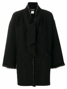 Chanel Pre-Owned beaded midi coat - Black