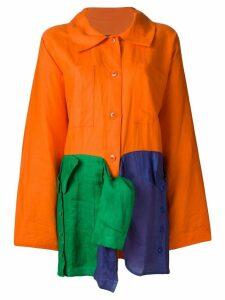 JC de Castelbajac Pre-Owned oversized light coat - Yellow