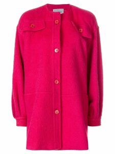 Gianfranco Ferré Pre-Owned collarless shift coat - PINK