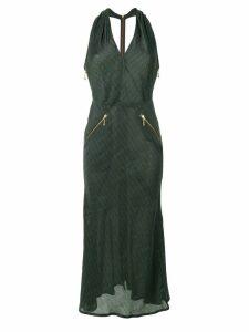 Jean Paul Gaultier Pre-Owned pinstriped halterneck dress - Green