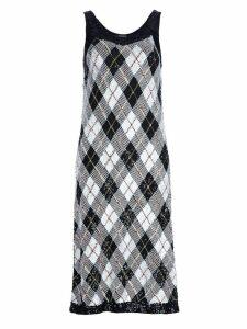 Jean Paul Gaultier Pre-Owned argyll dress - Black