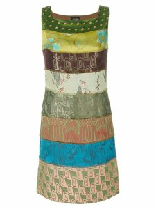 Jean Paul Gaultier Pre-Owned striped printed dress - Green