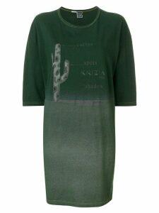 Krizia Pre-Owned printed T-shirt dress - Green