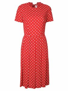 Comme Des Garçons Pre-Owned polka dots pleated dress - Red