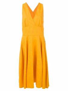 Yves Saint Laurent Pre-Owned mid-length dress - Orange