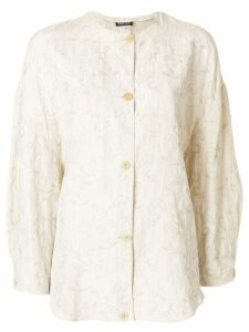Giorgio Armani Pre-Owned floral pattern loose jacket - NEUTRALS