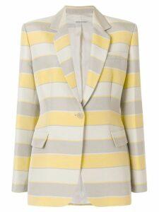 Giorgio Armani Pre-Owned striped classic blazer - Multicolour