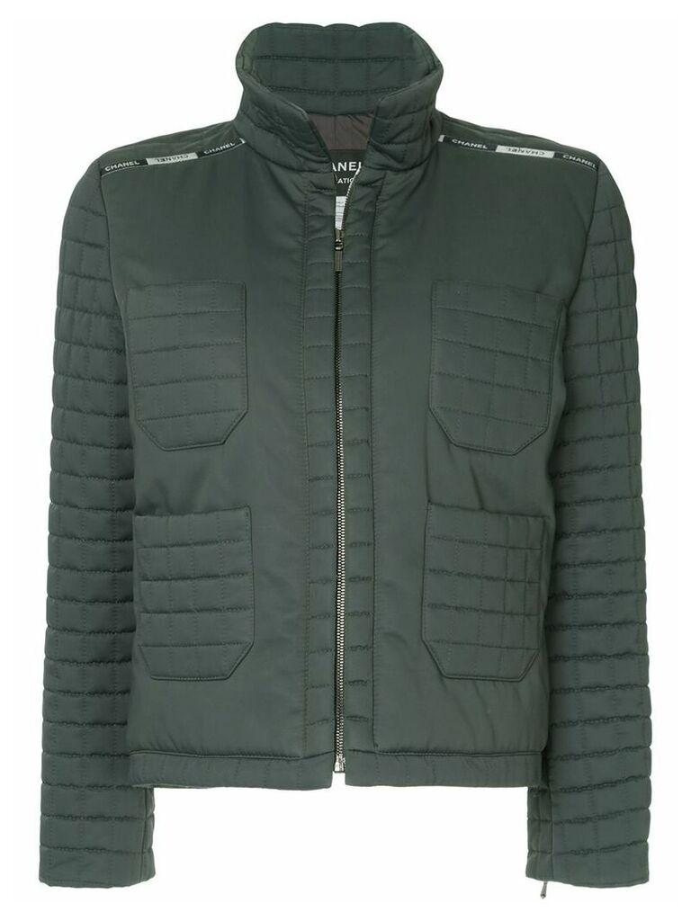 Chanel Vintage zipped padded jacket - Grey