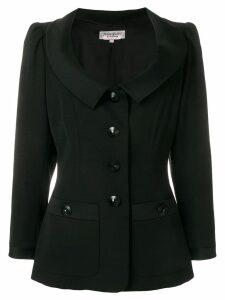 Yves Saint Laurent Pre-Owned open neck slim jacket - Black