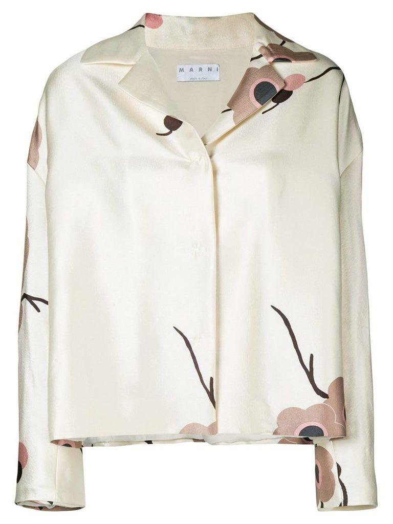 A.N.G.E.L.O. Vintage Cult floral print jacket - Nude & Neutrals